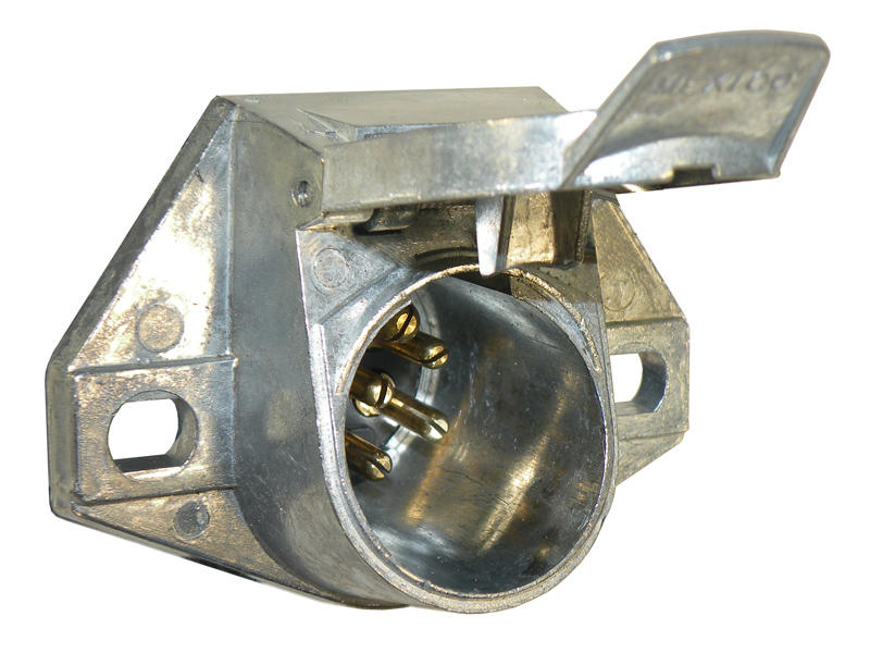 7-Way Round Pin Car End Socket