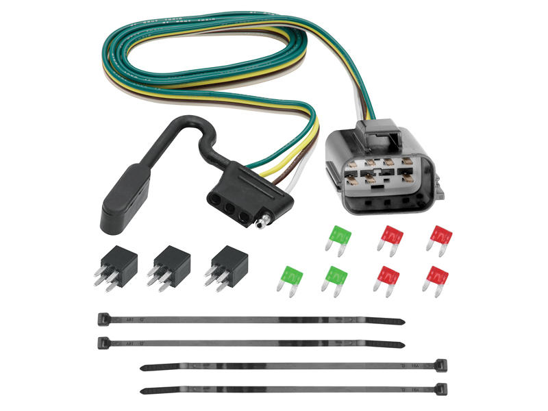 118270 tekonsha 118270 custom fit wiring harness with 4 flat connector Nissan Armada Trailer Wiring Harness at nearapp.co