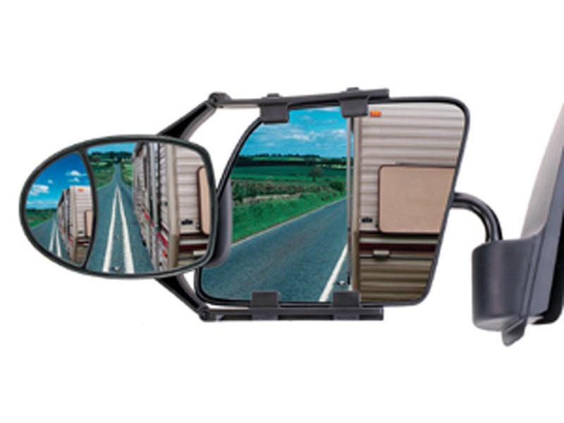 CIPA Dual-View Adjustable Clip-on Towing Mirror (Single)