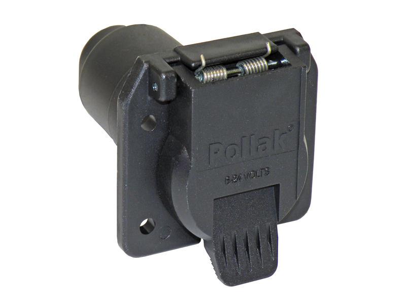 7-Way Flat Pin Nylon Car End Socket