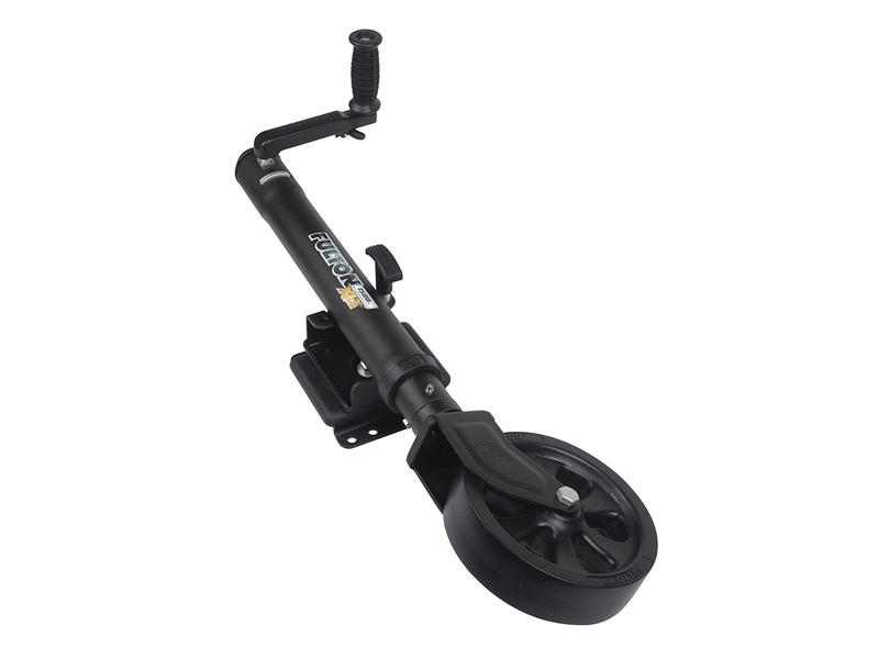 """XLT® Jack, 1,500 lbs., Swing Away, Bolt-On (Mounting Hardware Incl.), 12"""" Travel, Patent Pending TruTurn 360 Castering System"""