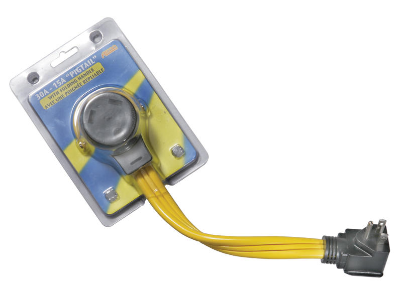 110-Volt Premium Series Temporary Flat Wire Pigtail Adapter
