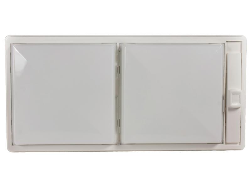12-Volt Double Economy Light - White Lens