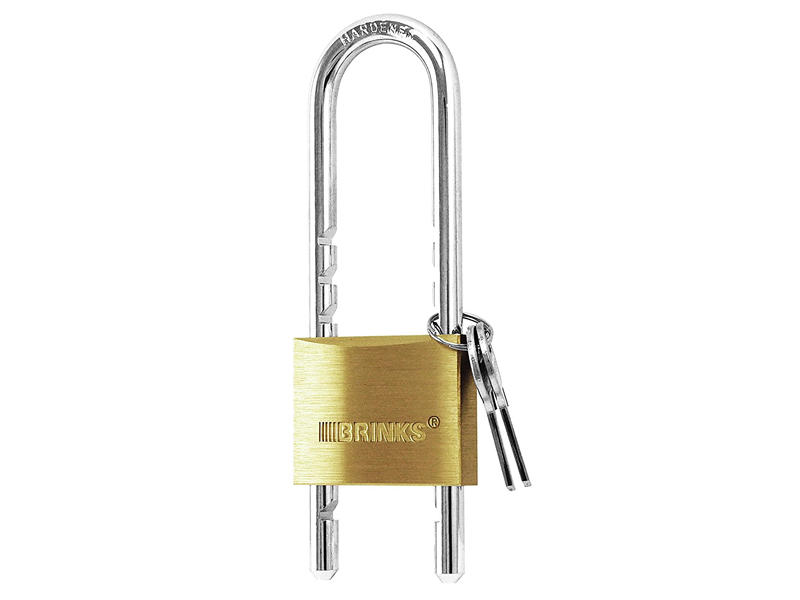 Solid Brass Adjustable Shackle Padlock