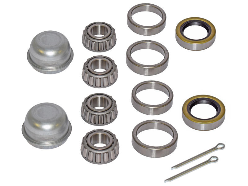 Pair Of Trailer Bearing Repair Kits For 3/4 Inch Straight Spindles