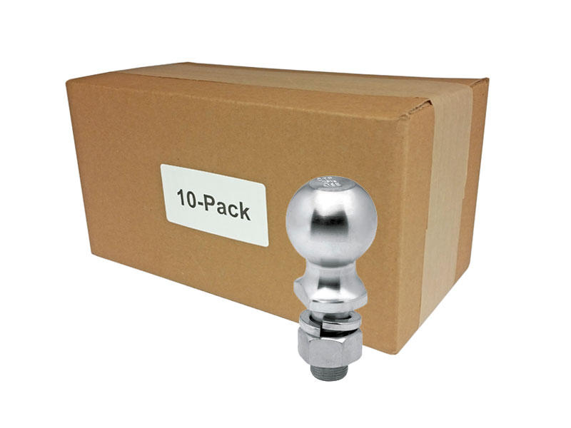 Zinc Hitch Balls - 2 5/16 inch - Bulk Pack of 10