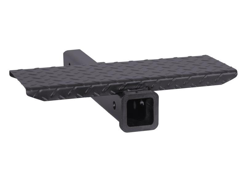 Receiver Hitch Extension with Diamond Tread Step