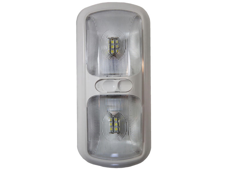 12-Volt Euro-Style Double L.E.D. Light - Optic Lens