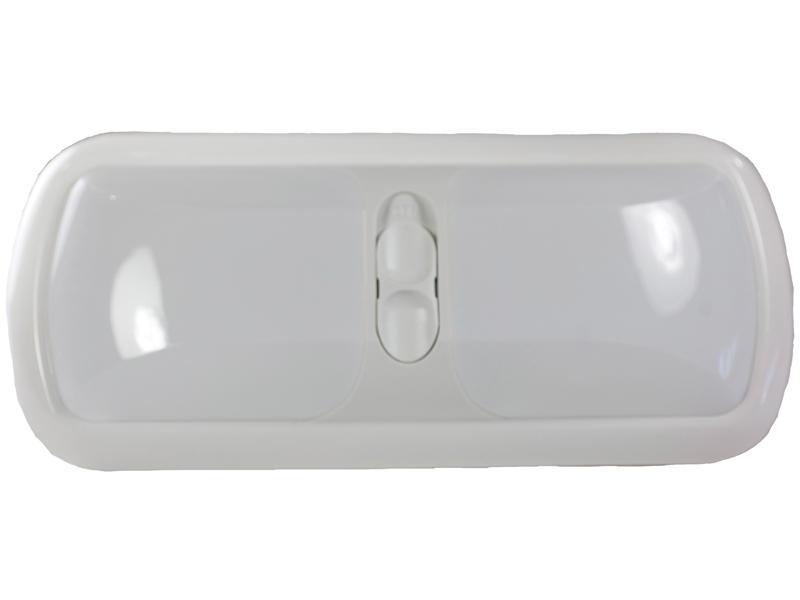 12-Volt Euro-Style Double L.E.D. Light - White Lens