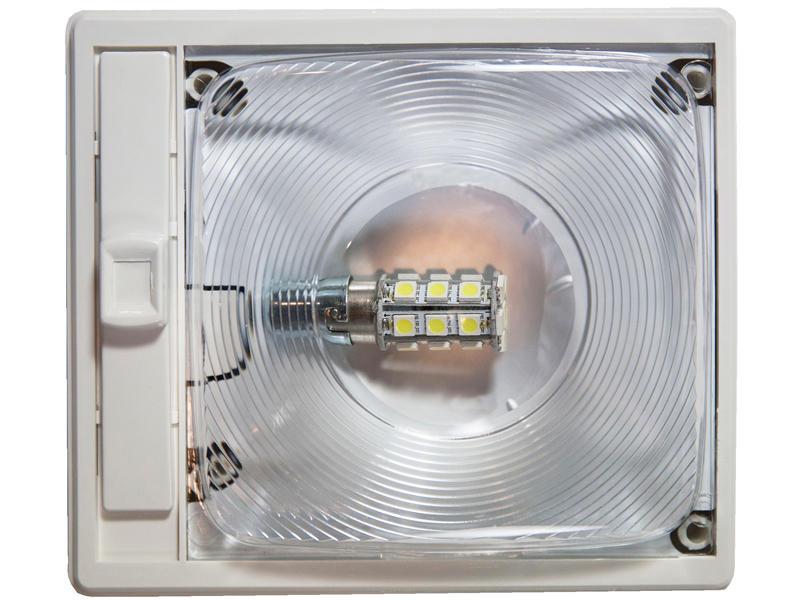 12-Volt Single L.E.D Interior Light - Optic Lens