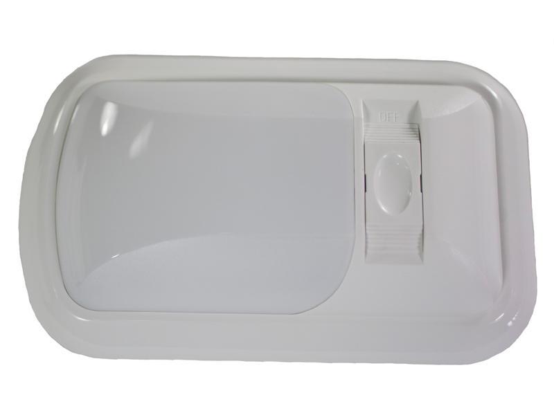 12-Volt Euro-Style Single L.E.D. Light - White Lens