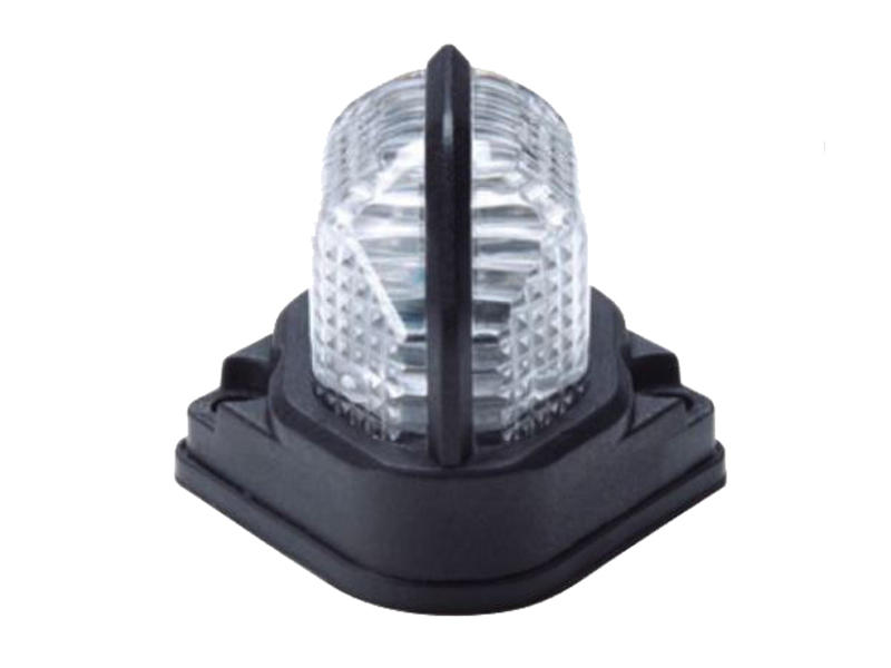 LED Fender-Mount Light With Pigtail - Clear Lens