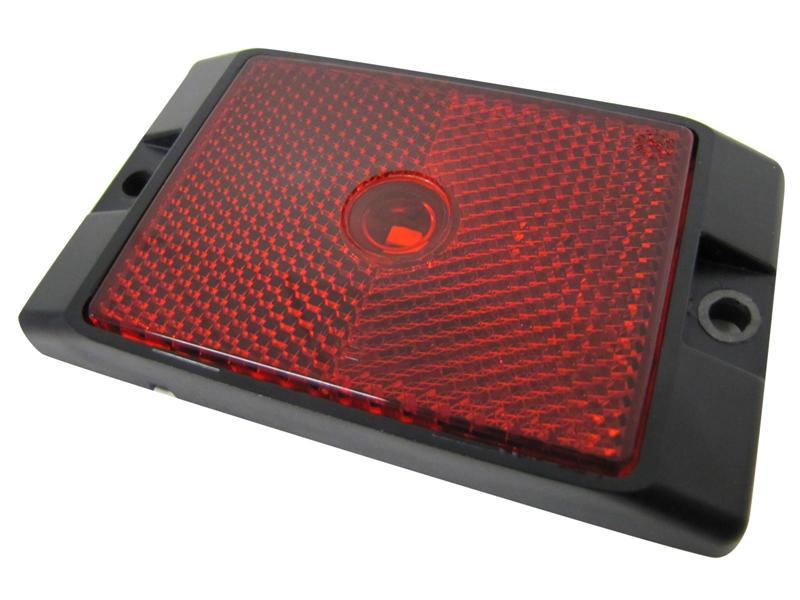L.E.D. Clearance/Side Marker Amber Light W/ Reflex - Red