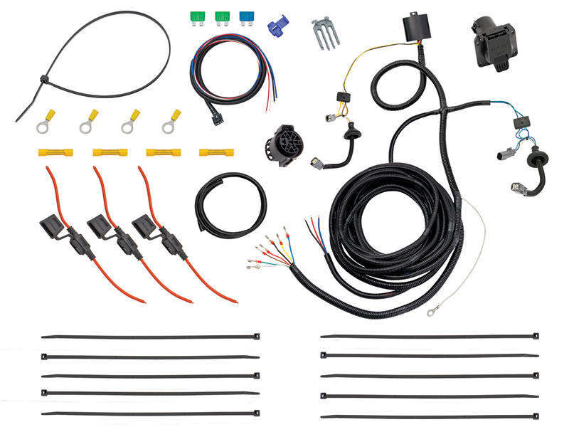 Tow Harness w/ Modulite and Brake Control Harness - 7-Way Connector