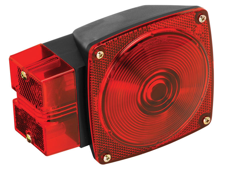 "Square ""Over 80"" Trailer Tail Light - Left"