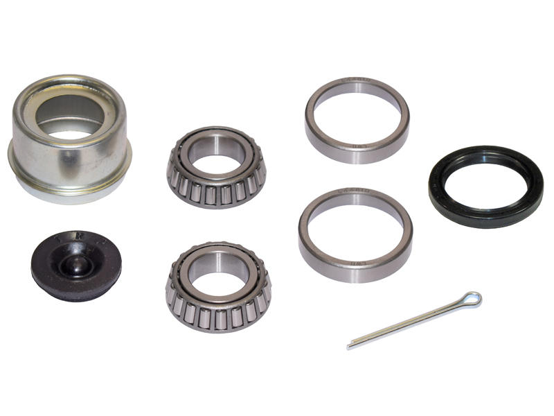 Trailer Bearing Repair Kit For 1-1/16 Inch Straight Spindle - Includes E-Z Lube Cap With Plug