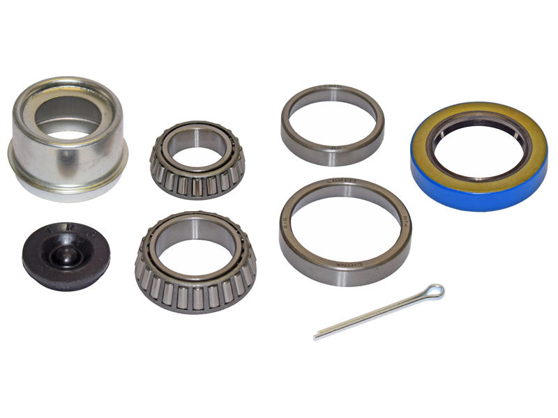 Trailer Bearing Repair Kit For 1-3/8 To 1-1/16 Inch Tapered Spindle - Includes E-Z Lube Cap With Plug