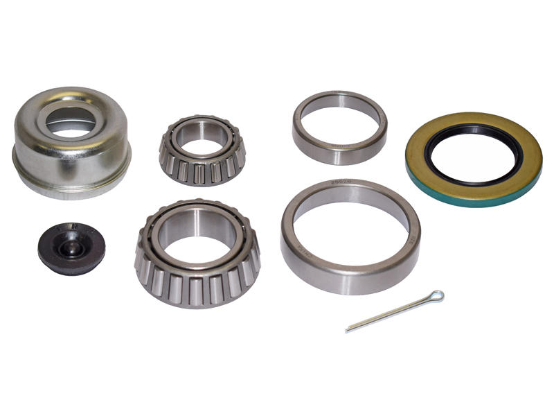 Trailer Bearing Repair Kit For 1-3/4 To 1-1/4 Inch Tapered Spindle - Includes E-Z Lube Cap With Plug