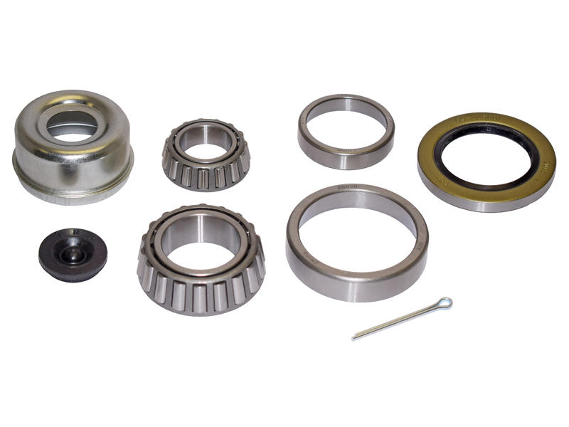 Trailer Bearing Repair Kit For 1-3/4 To 1-1/4 Inch Tapered Spindle - Includes E-Z Lube Cap And Plug