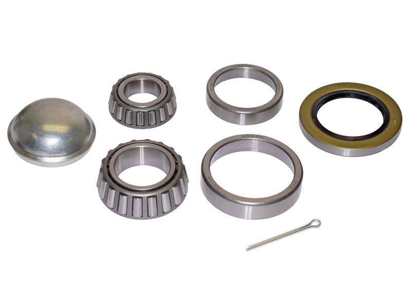 Trailer Bearing Repair Kit For 1-3/4 To 1-1/4 Tapered Spindle (8-Bolt)