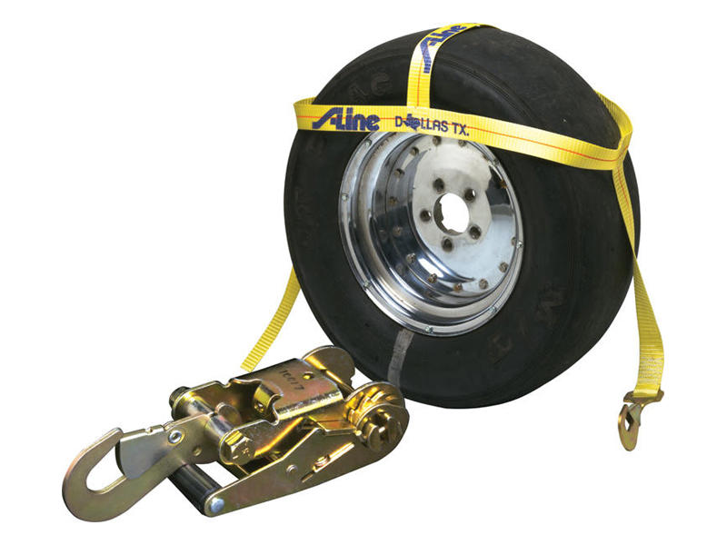 Over-The-Wheel Tie-Down Dollie Strap With Ratchet