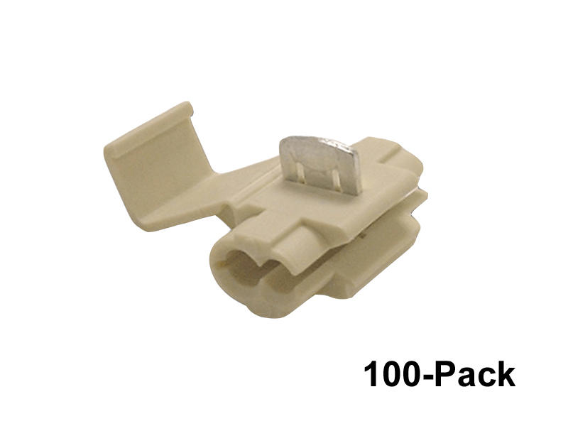 White 3M Wire Taps - 100 Pack