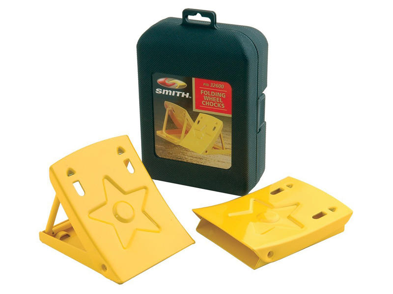 Folding Wheel Chocks with Carrying Case - Pair