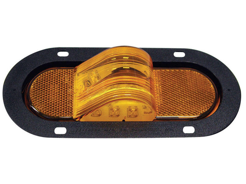 Oval LED Auxiliary/Mid-Turn Light - Flange Mount