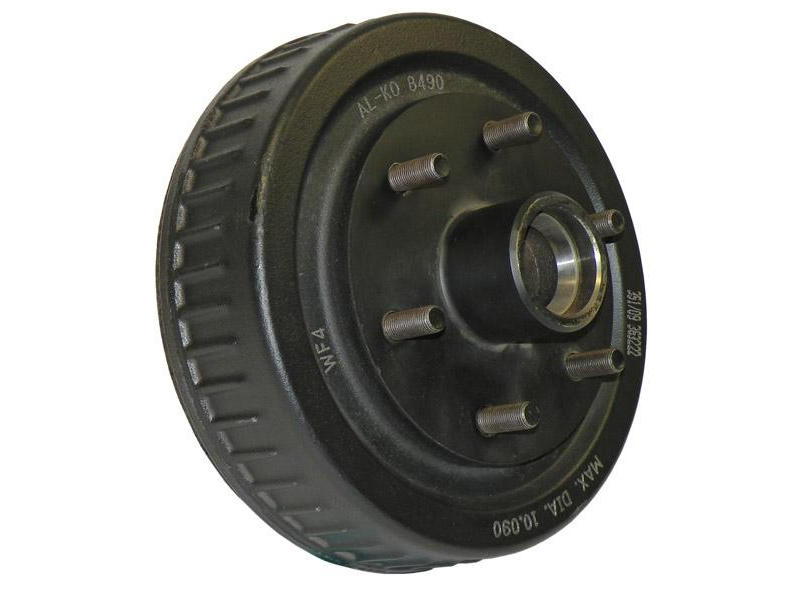 "Trailer Hub-Drum For 1-3/8"" To 1-1/16"" Tapered Spindles"