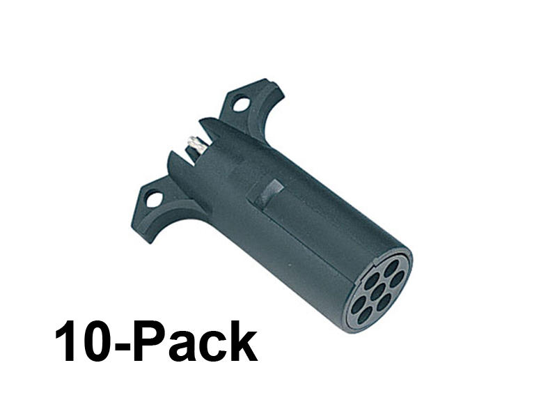 7-Way Round Pin to 4-Flat Adapter - 10-Pack