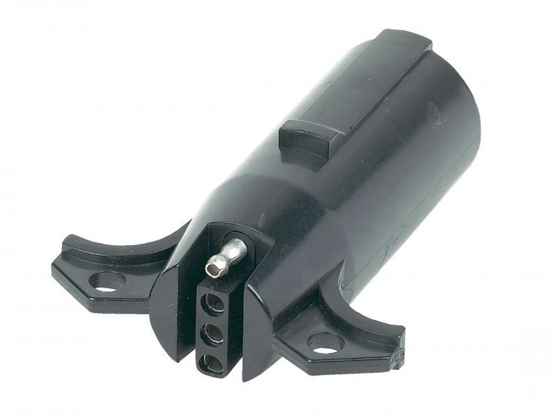 7-Way Round Pin to 4-Flat Adapter