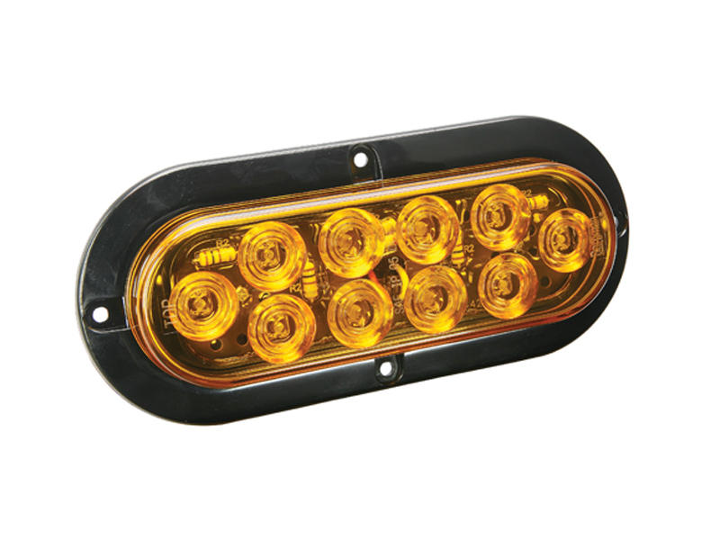 "6"" Oval LED Tail Light- Amber"