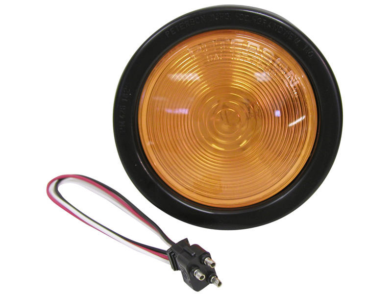 4 inch Round Amber Light Kit