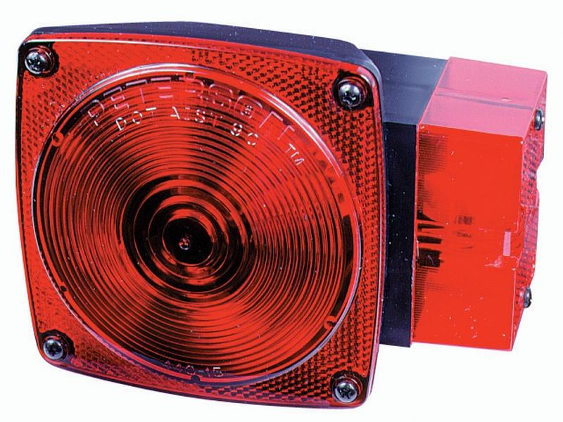 "Square ""Over 80"" Wide Combination Tail Light- Right"