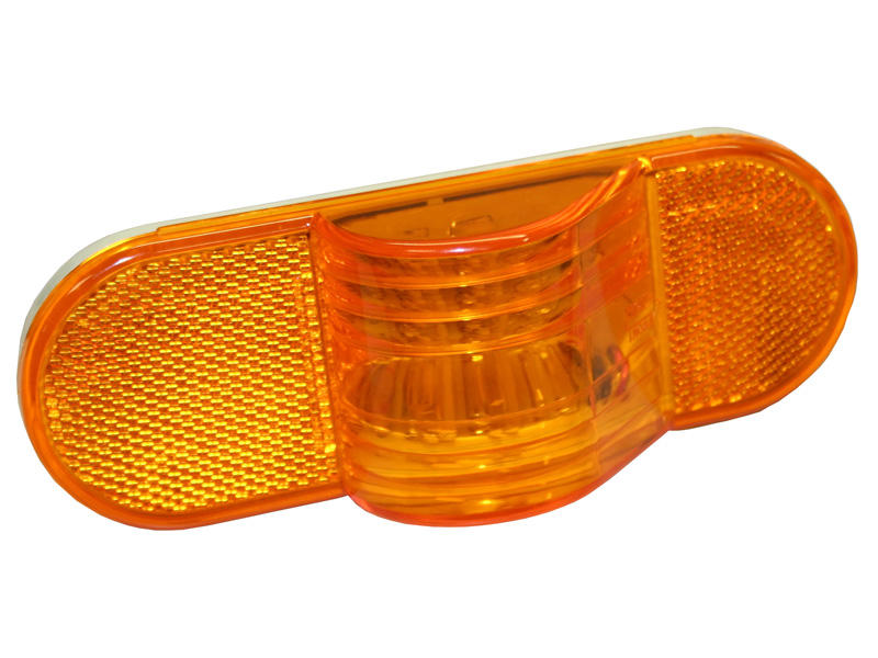 "6"" Oval LED Mid-Turn Light- Amber"