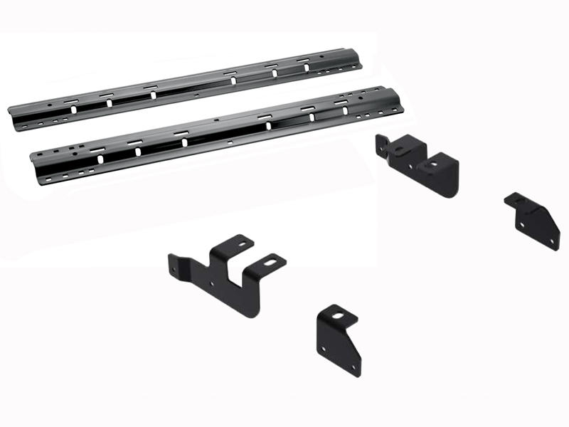 Quick Install Fifth Wheel Mounting Brackets With Rails