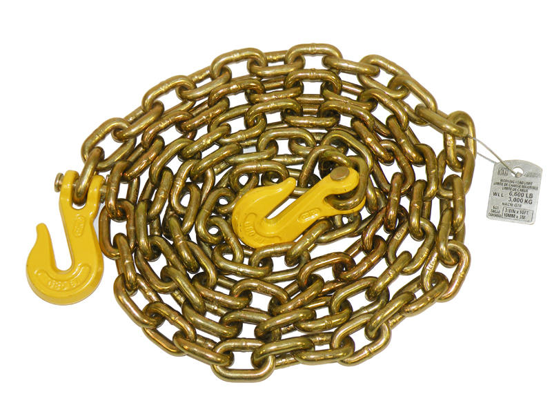 "Grade 70 - 3/8"" x 10 Feet Transport Chain"