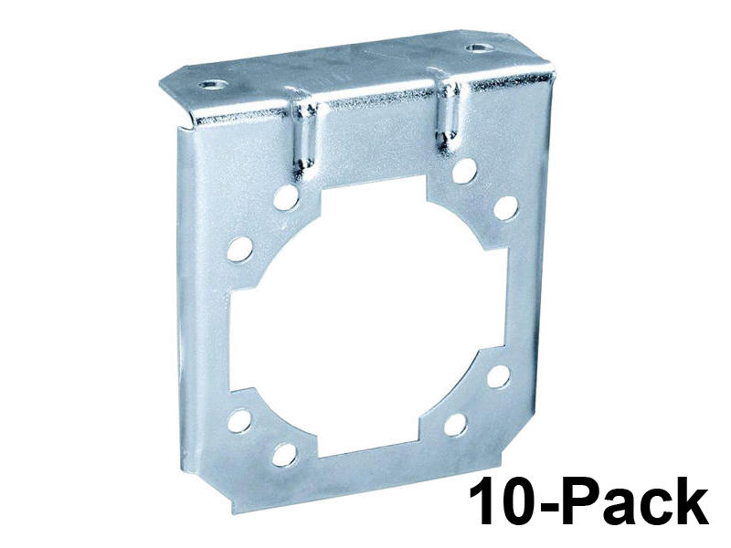 7-Way Socket Mounting Brackets - 10-Pack