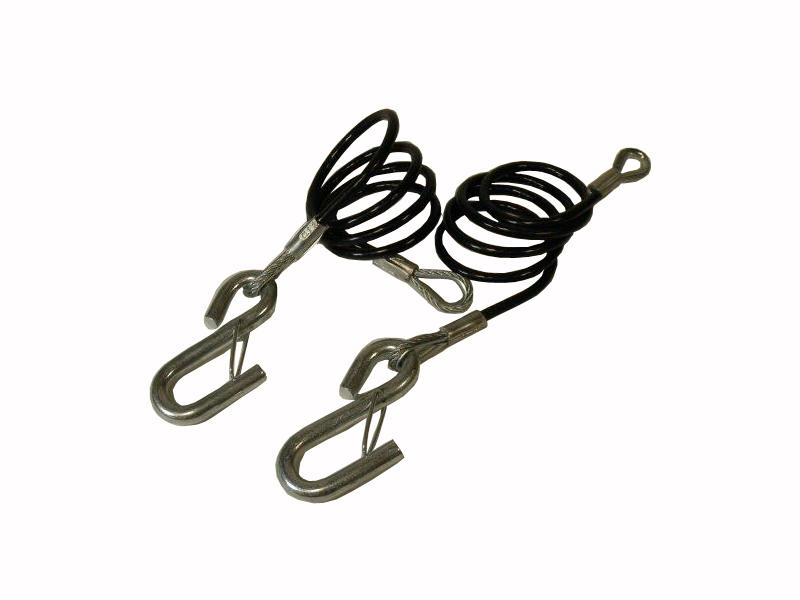 Vinyl Coated Coiled Safety Cables - Pair