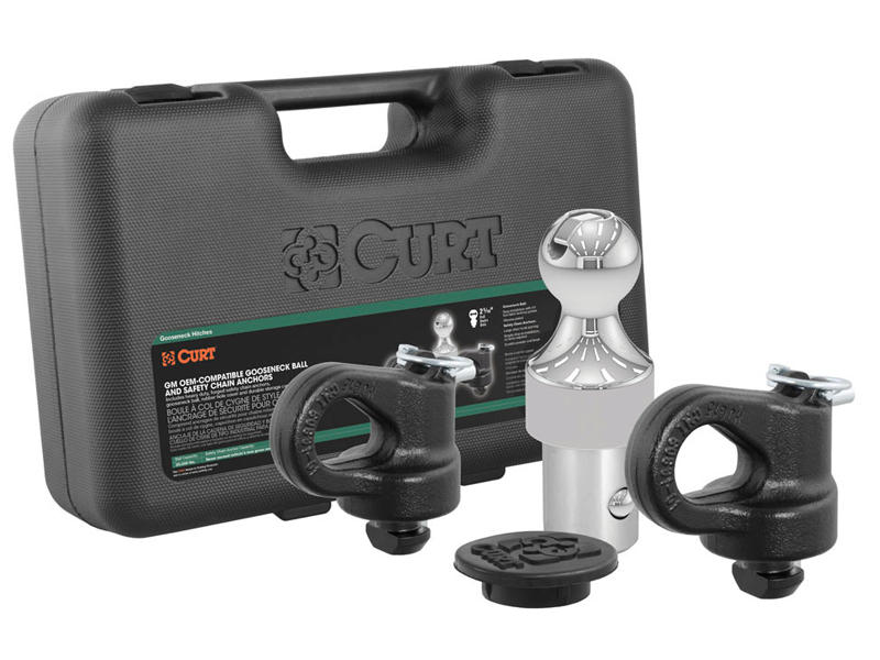 CURT OEM Puck System Gooseneck Ball & Safety Chain Anchor Kit for Ford, Chevrolet, GMC, Nissan (30K)