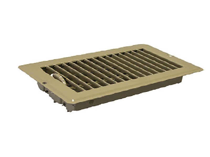 Metal Floor Register - 4 inch x 10 inch