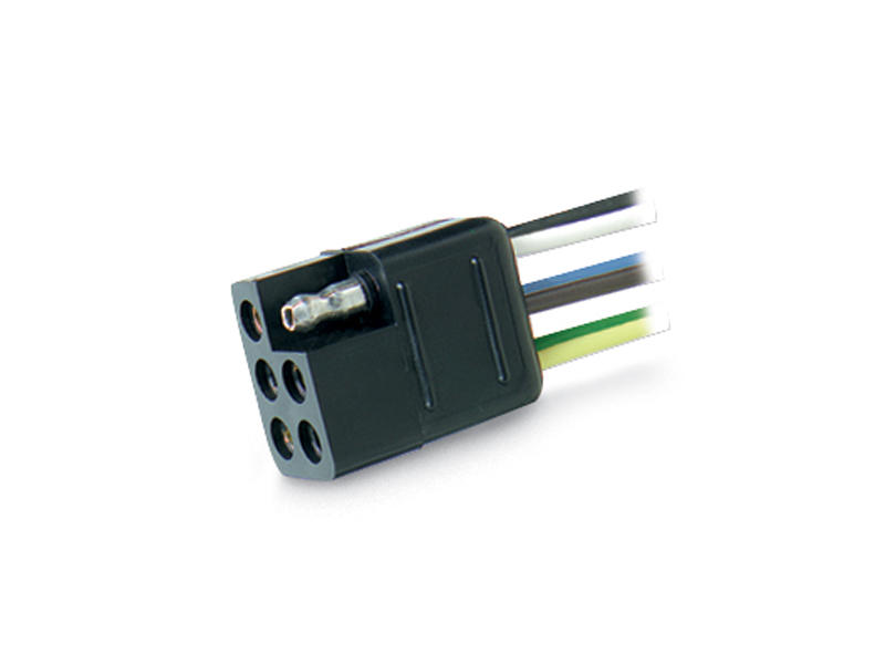 6-Way Square Car-End Connector