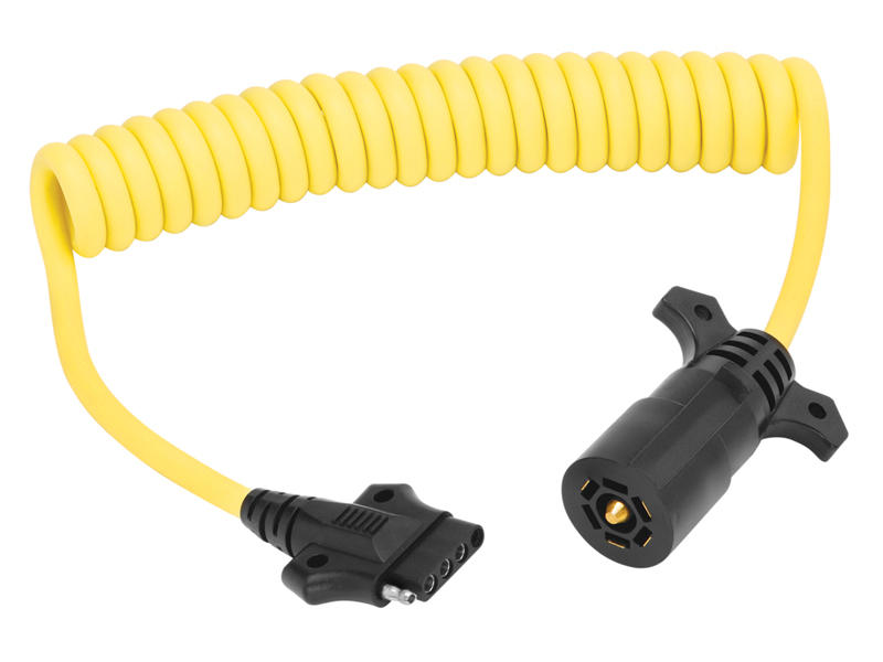7-Way To 4/5-Flat - 8 Foot Coiled Adapter