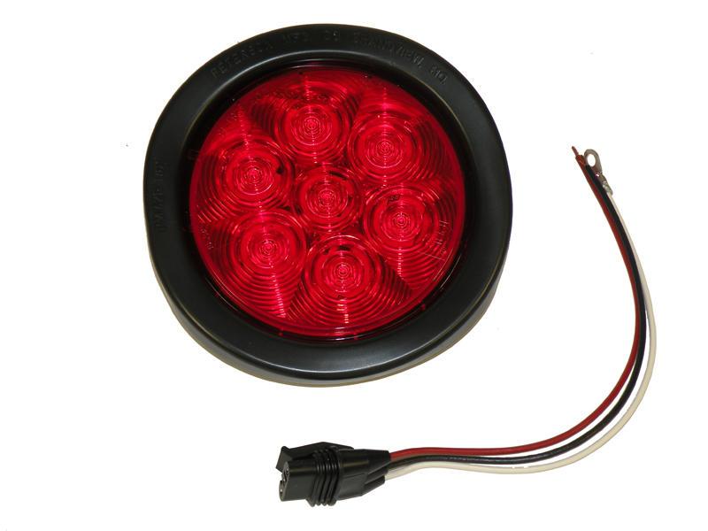 """4"""" Round LED. Red Tail Light Kit - LumenX"""