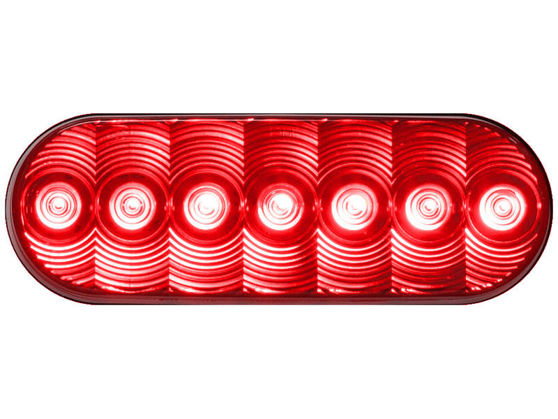 Oval LED Red Tail Light - LumenX