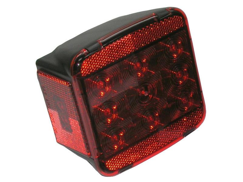 LED Square Trailer Tail Light - Left