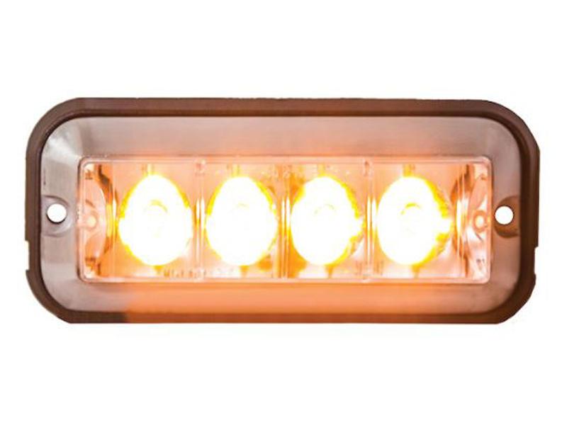4.875 Inch Rectangular L.E.D. Strobe Light - Amber