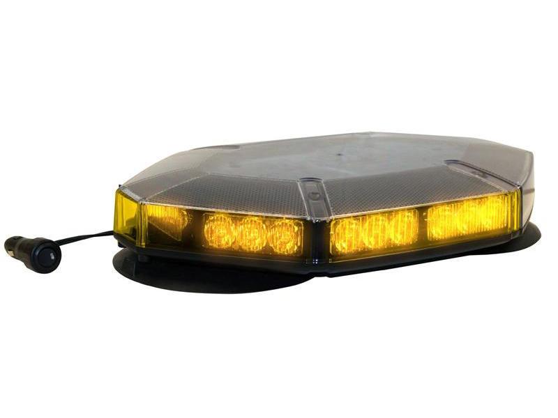 Flashing Amber Mini Light Bar (Magnetic Mount)