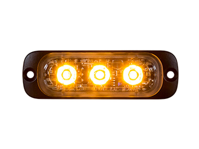 Amber L.E.D. Strobe Light - Thin Mount