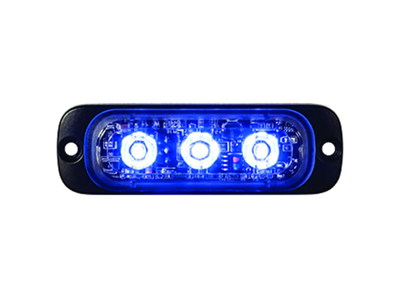 Blue L.E.D. Strobe Light - Thin Mount